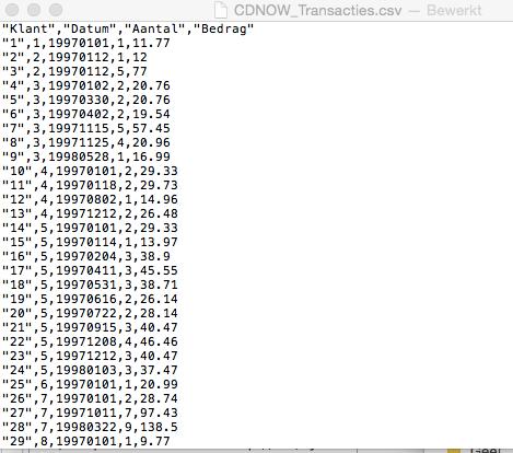 cdnow dataset