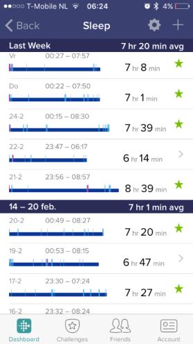 Fitbit app slaap
