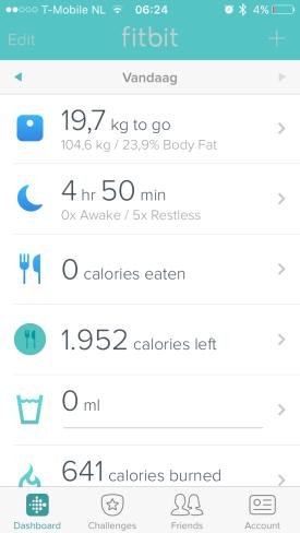 Fitbit app slaap doel