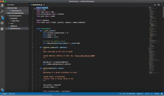Demo: De code achter eenBlockchain